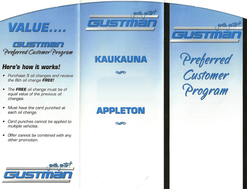 Preferred Customer Program from Gustman