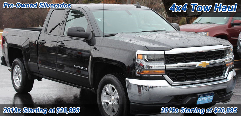 Used 2019 Chevrolet Silverados Starting at $30,895