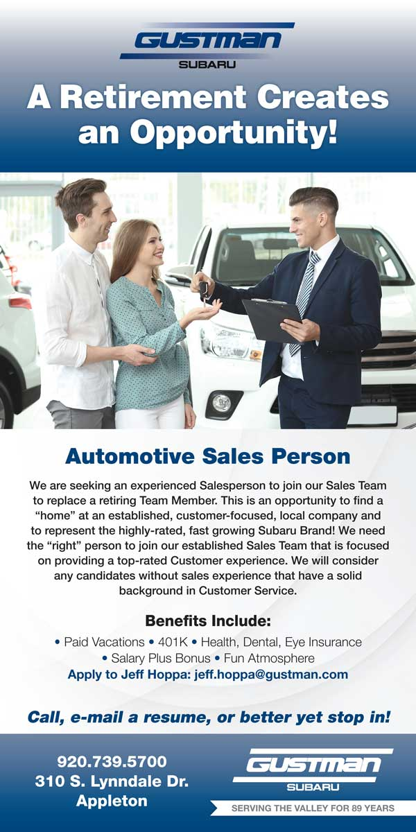 Gustman Automotive Sales Person